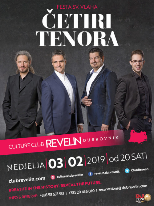 Cetiri tenora Live - Culture Club Revelin