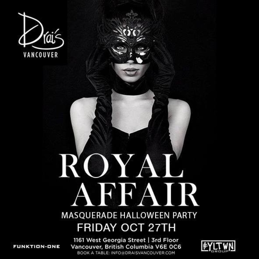 royal affair masquerade :: drais vancouver