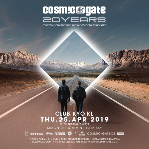 Cosmic Gate - 20 Years of Forward Ever Backward Never - Kyo