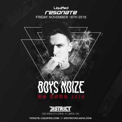 Resonate Fridays: BOYS NOIZE, Friday, November 16th, 2018