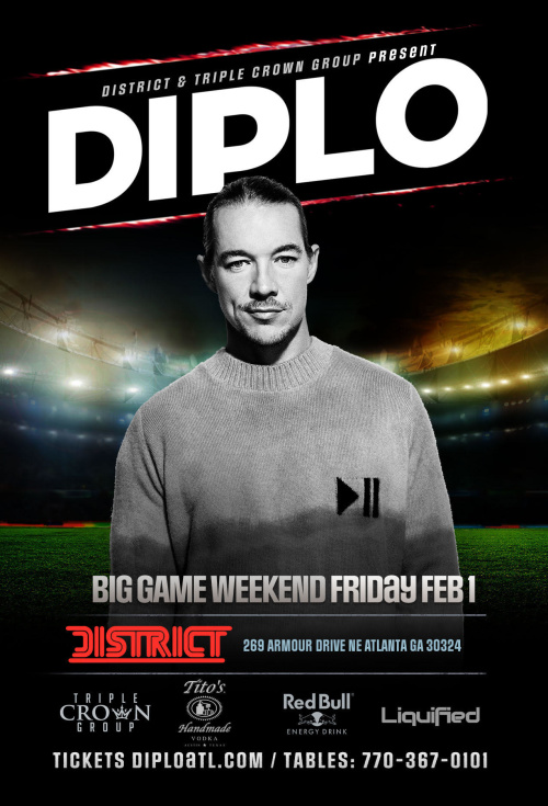 DIPLO | Big Game Weekend | Friday February 1st 2019 - District
