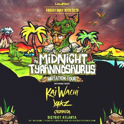 Midnight Tyrannosaurus | Mutation Tour | With Special Guests, Friday, May 10th, 2019