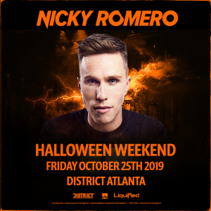 Nicky Romero, Friday, October 25th, 2019