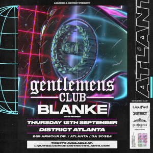 Gentlemens Club w/Blanke, Thursday, September 12th, 2019