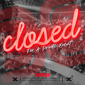 Closed for Private Event, Saturday, August 31st, 2019
