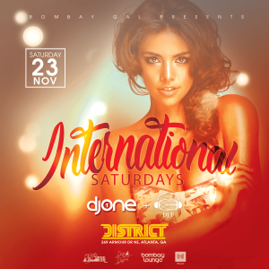 Bombay Lounge: International Saturdays, Saturday, November 23rd, 2019