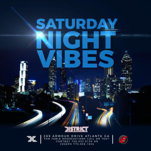 Saturday Night Vibes, Saturday, December 7th, 2019