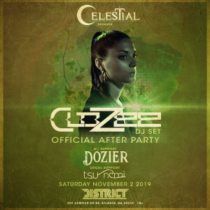 Celestial Presents: Clozee DJ SET (Official Afterparty), Saturday, November 2nd, 2019