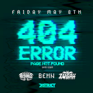 404 Error: Club Not Found, Friday, May 8th, 2020