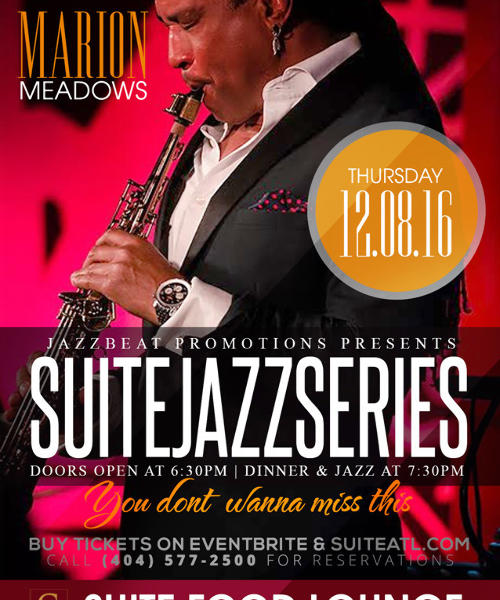 Suite Jazz Series Presents Marion Meadows
