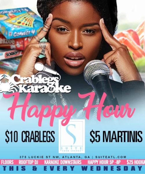 Crablegs and Karaoke Happy Happy Hour