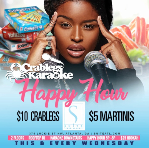 Crablegs and Karaoke Happy Happy Hour