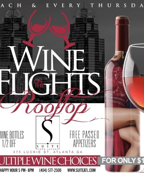Wine Flights on The Rooftop
