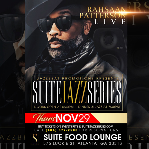 Rahsaan Patterson Live at Suite
