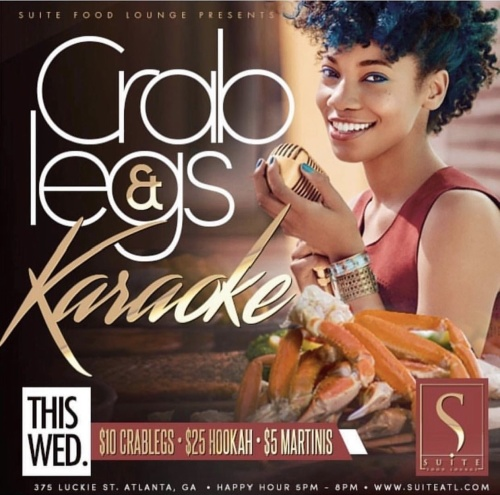 CRABLEGS & KARAOKE HAPPY HOUR