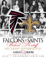 Gold room Fridays : Falcons Vs Saints: hiphop Fridays