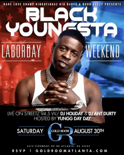Blac Youngsta at Gold Room Nightclub