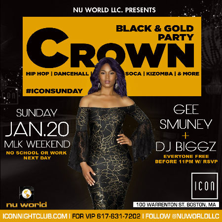 CROWN  - BLACK & GOLD PARTY