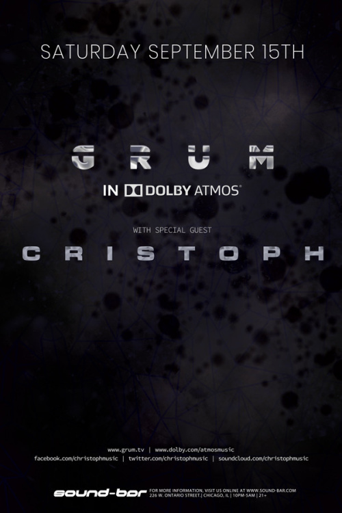GRUM (in Dolby ATMOS) w/ special guest CRISTOPH - Sound-Bar