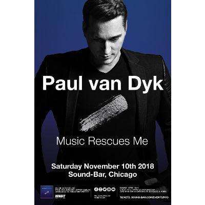 Paul Van Dyk, Saturday, November 10th, 2018
