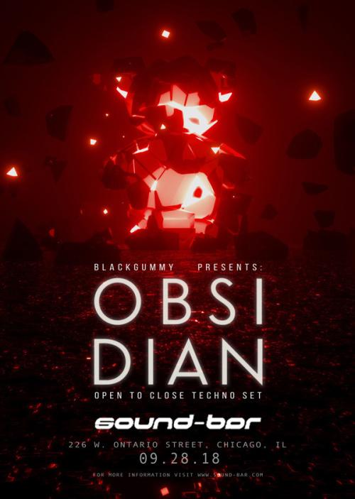 BlackGummy presents OBSIDIAN (Open to Close Techno Set) - Sound-Bar