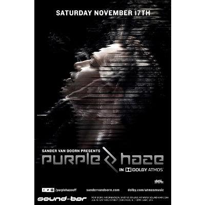 Sander Van Doorn presents Purple Haze in Dolby ATMOS, Saturday, November 17th, 2018