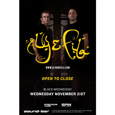 Black Wednesday w/ Aly & Fila (Open to Close), Wednesday, November 21st, 2018
