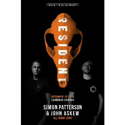 Simon Patterson & John Askew All Night Long, Saturday, December 15th, 2018