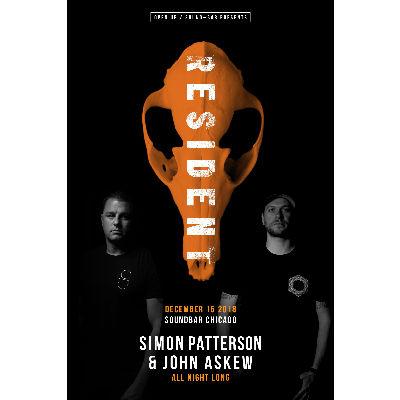 Simon Patterson & John Askew All Night Long, Saturday, December 15th, 2018