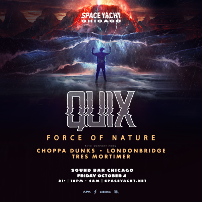 Space Yacht presents Quix!, Friday, October 4th, 2019