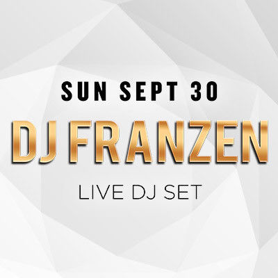 SunDrais w/ DJ Franzen, Sunday, September 30th, 2018