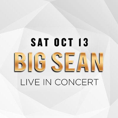 Big Sean, Saturday, October 13th, 2018