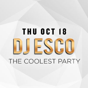 DJ Esco, Thursday, October 18th, 2018