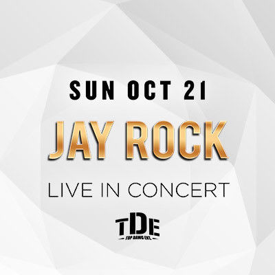 Jay Rock w/ DJ Franzen, Sunday, October 21st, 2018