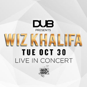 Dub Presents Wiz Khalifa, Tuesday, October 30th, 2018