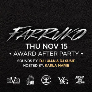 Farruko, Thursday, November 15th, 2018