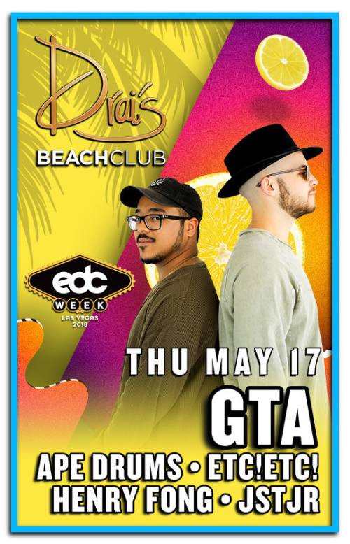 GTA, Ape Drums, ETC!ETC!, Henry Fong, JSTJR, Shelco Garcia x TEENWOLF - Drai's Beachclub