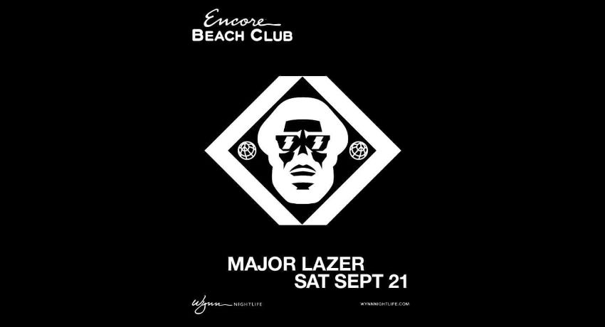 Major Lazer at Encore Beach Club