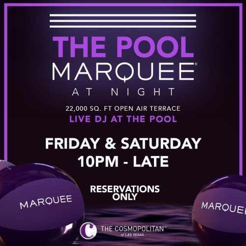 DJ MIKE ATTACK - Marquee Pool at Night
