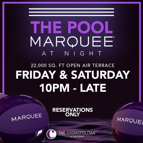 THE POOL MARQUEE AT NIGHT - Marquee Pool at Night