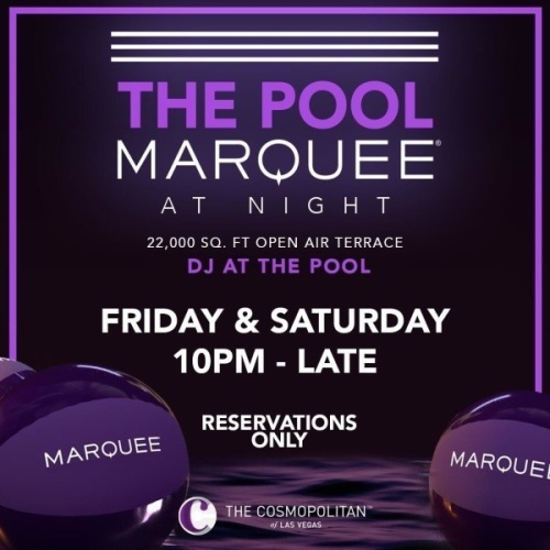THE POOL MARQUEE AT NIGHT - Marquee Lounge