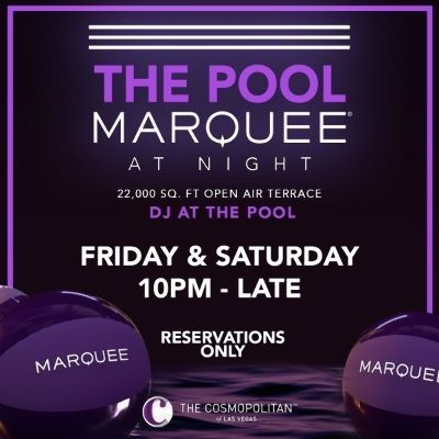 MARQUEE LOUNGE, Friday, November 13th, 2020
