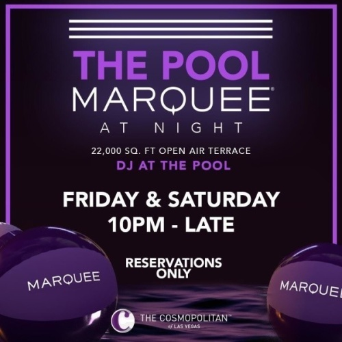 MARQUEE LOUNGE - Marquee Pool at Night