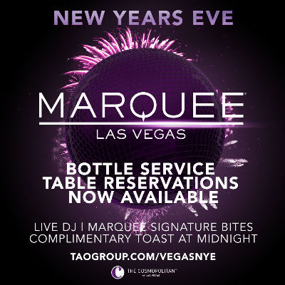 MARQUEE LOUNGE, Thursday, December 31st, 2020