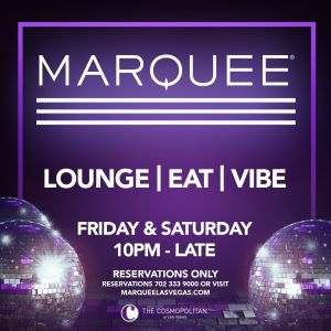 MARQUEE LOUNGE, Friday, December 4th, 2020