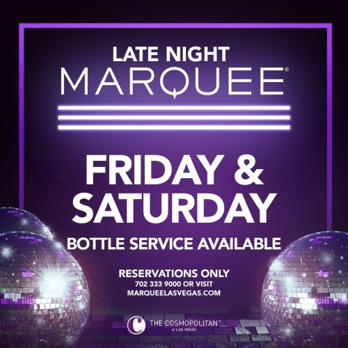 MARQUEE LATE NIGHT - Marquee Lounge