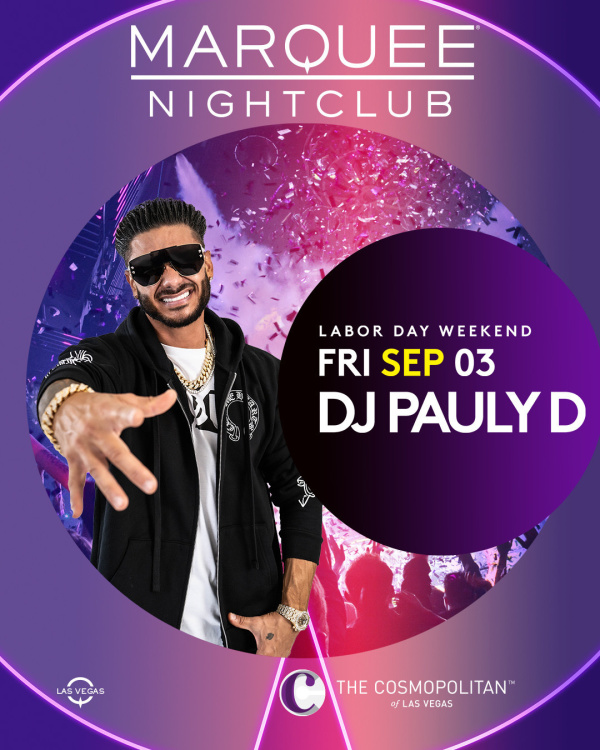 LABOR DAY WEEKEND: DJ PAULY D at Marquee Nightclub thumbnail