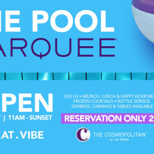 MARQUEE POOL, Saturday, August 29th, 2020