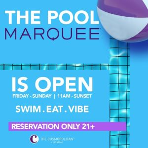 MARQUEE POOL, Saturday, October 3rd, 2020