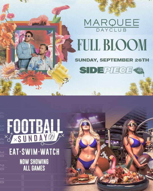 FULL BLOOM: SIDEPIECE + FOOTBALL SUNDAY at Marquee Dayclub thumbnail